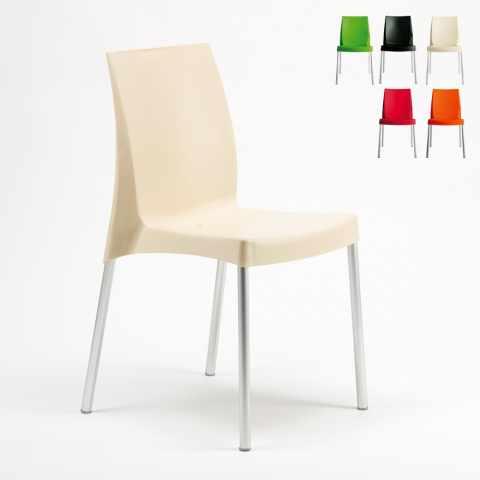 S3340 - Chaise plastique pour bar cafè BOULEVARD Grand Soleil italienne - rosso