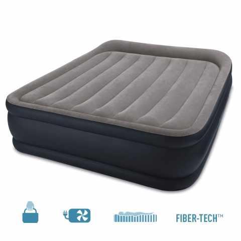 64136 - Intex 64136 matelas lit d'appoint gonflable double électrique lit de camp portable 152x203x42 - basso prezzo
