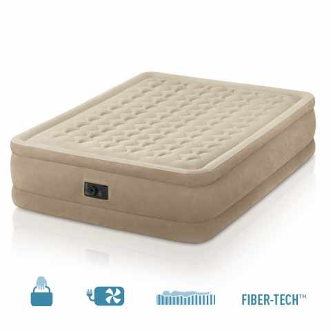 64458 - Matelas gonflable Intex 64458 lit double de camping 152x203x46 - outlet