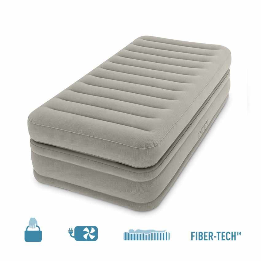matelas gonflable 1 personne maison invit s camping intex 64444. Black Bedroom Furniture Sets. Home Design Ideas