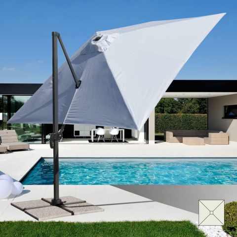 PA303UFR - Parasol de jardin 3x3 bras en aluminium carré PARADISE - offerta