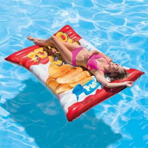 58776 - Matelas Gonflable Intex 58776 Chips Piscine - retro