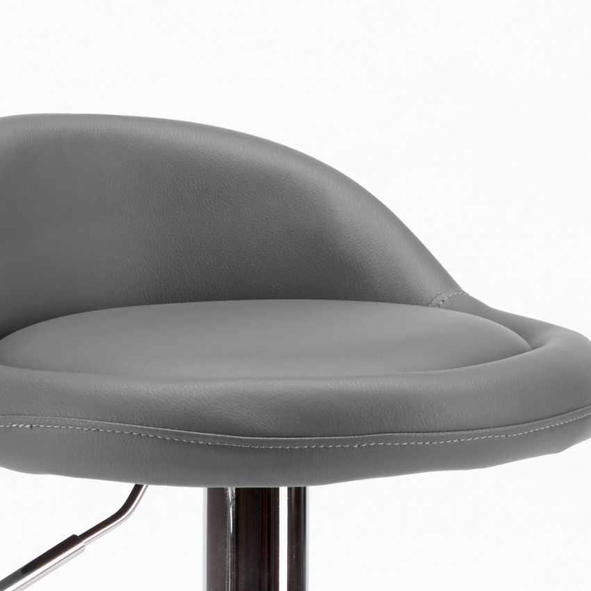 tabouret haut en cuir chrom pour cuisine et bar baltimora. Black Bedroom Furniture Sets. Home Design Ideas