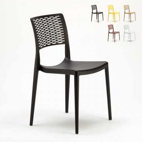 SC702PP - Chaise pour Cuisine Bar et Jardin en Polypropylène Empilable et Légère CROSS - fronte