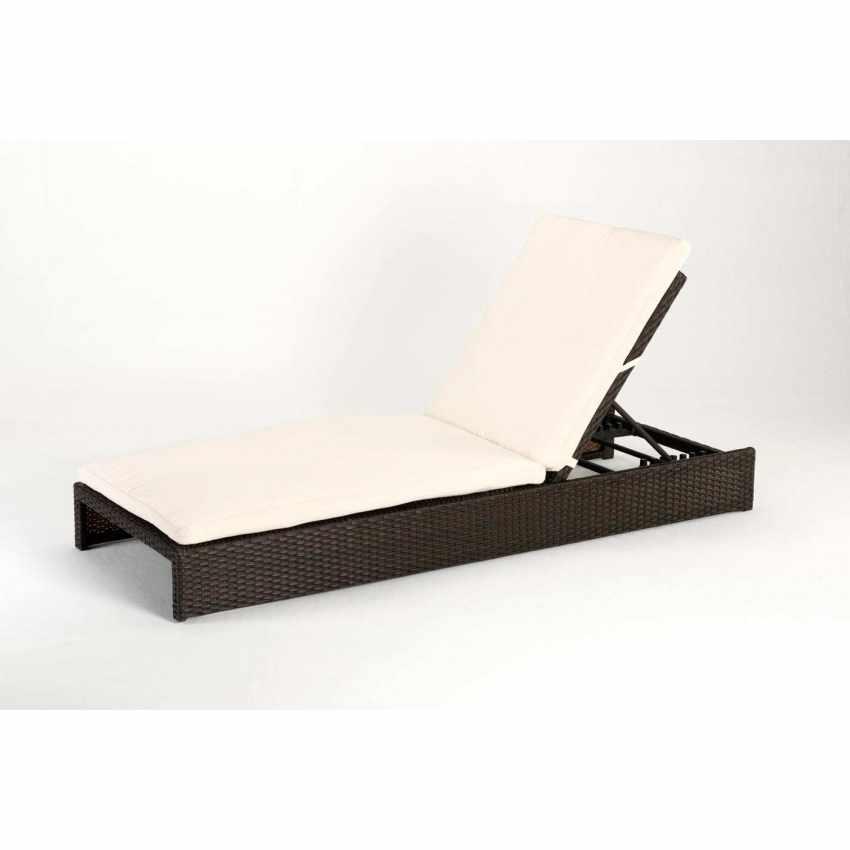 ma100ratc chaise longue bain de soleil lit de piscine jardin poly rotin aluminum malesia - Chaise Longue Jardin