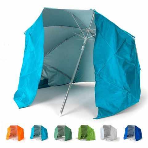 PI200UVA - Parasol de plage portable  moto pliable légèr aluminium tente 200 cm PIUMA - grigio