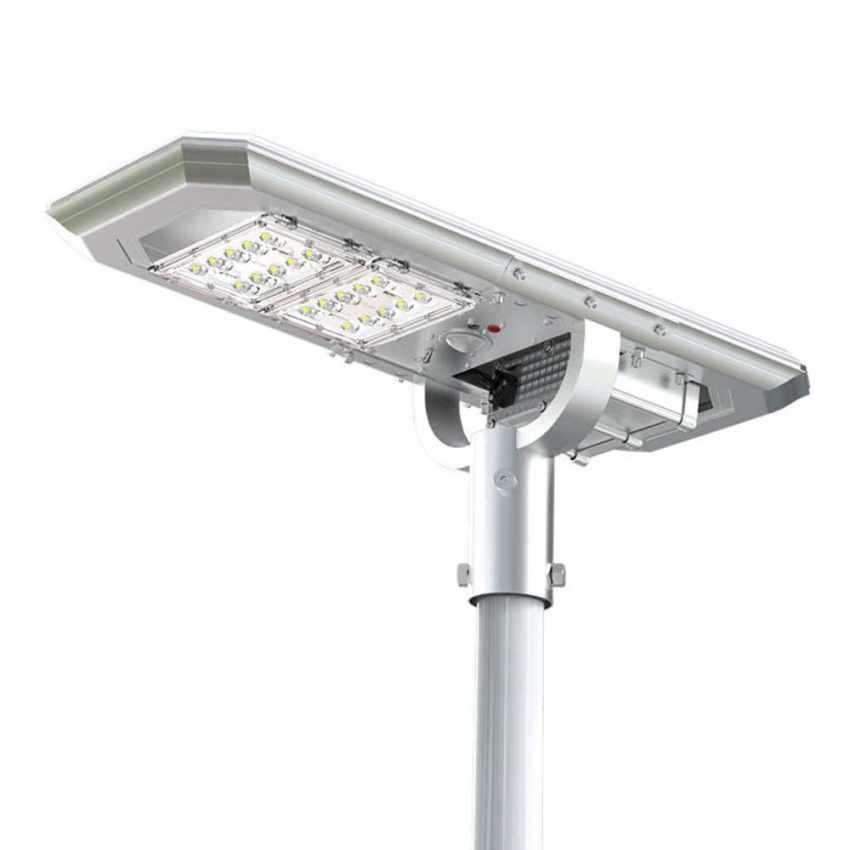 Lampadaire LED à Énergie Solaire avec Panneau Solaire et Capteurs pour la Route, Place, Stationnements ATLAS - offerta