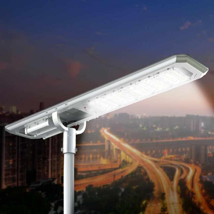 Lampadaire LED à Énergie Solaire 5000 Lumen idéal pour Routes Jardins GOLDRAKE - immagine