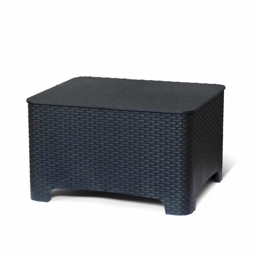 Petite table avec boîte de stockage pour les coussins de jardin et extérieur bars et hôtels RAFFAELLO - foto