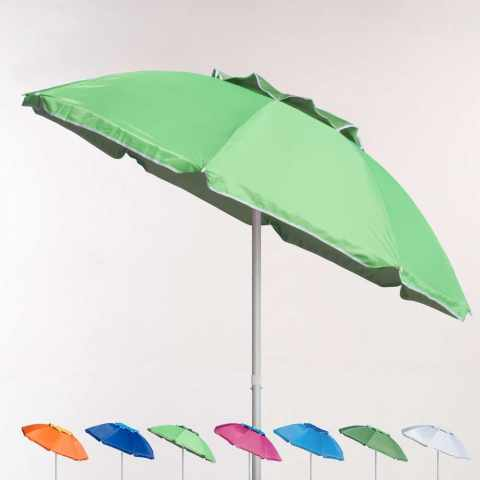 CO200UVA - Parasol de plage 200 cm aluminium antivent protection uv CORSICA - economico