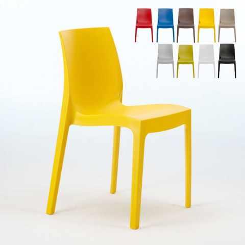 S6217 - Chaise en polypropylène empilable cuisine maison café bar ROME Grand Soleil - fronte