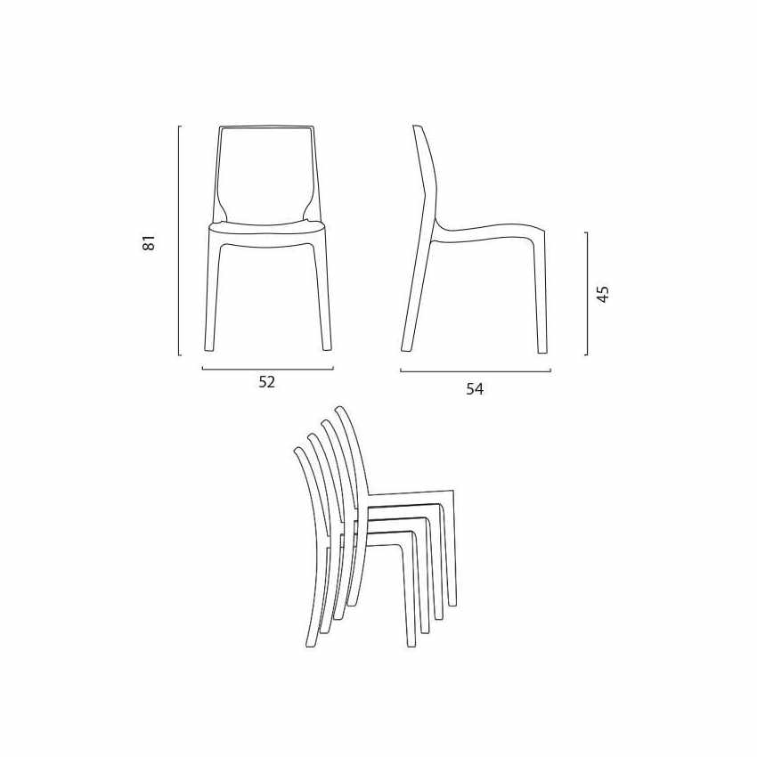 Chaise-en-polypropylene-empilable-Salle-a-Manger-cafe-bar-ROME-Grand-Soleil