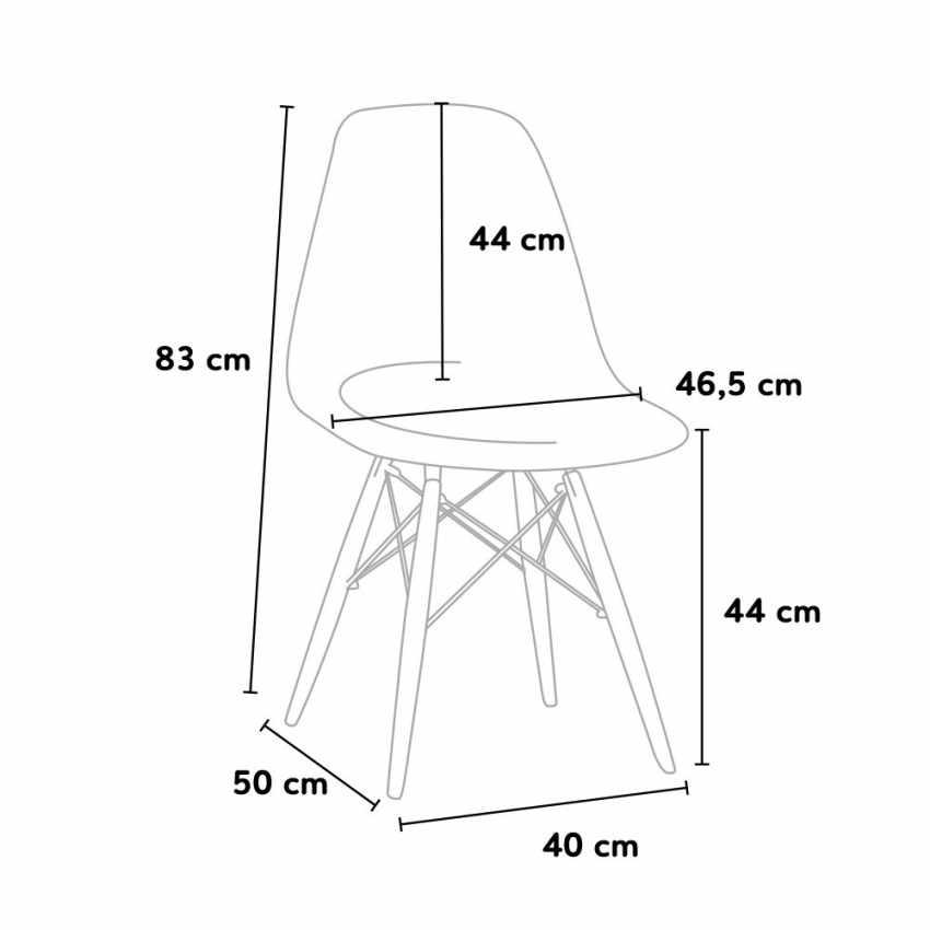 DSW Wooden Exclusive Chaise  au Meilleur Prix - prezzo