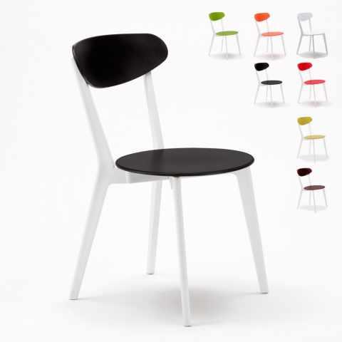 SC659PP4PZ - 4 Chaises cuisine café bar restaurant brasserie Design paysan - dettaglio