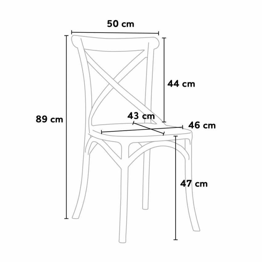sv681pp chaise de cuisine restaurant en polypropylne vintage paysan cross design colorato - Chaise De Cuisine