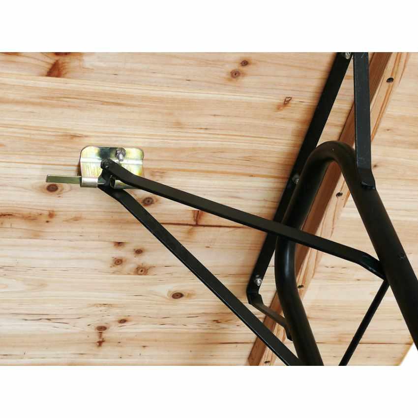 Table de brasserie pour fêtes lieux publics bancs en bois  220x80 - arredamento
