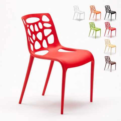 SG613PP - Chaise en polypropylène anti UV design moderne GELATERIA  cuisine et bar café Connubia - colorato