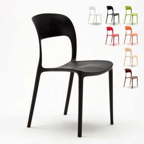 SR633PP - Chaise cuisine maison bar restaurant en polypropylène coloré design RESTAURANT - basso prezzo