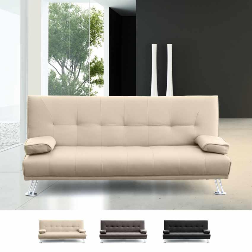 canap clic clac double 2 places avec accoudoirs en faux cuir olivina pour les lieux publics et. Black Bedroom Furniture Sets. Home Design Ideas