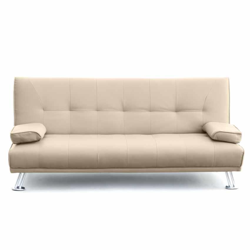 canap clic clac double 2 places avec accoudoirs en faux cuir olivina pour les activit s. Black Bedroom Furniture Sets. Home Design Ideas