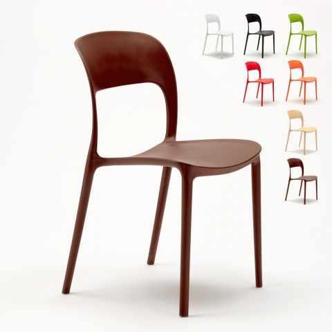 SR633PP - Chaise cuisine maison bar restaurant en polypropylène coloré design RESTAURANT - offerta